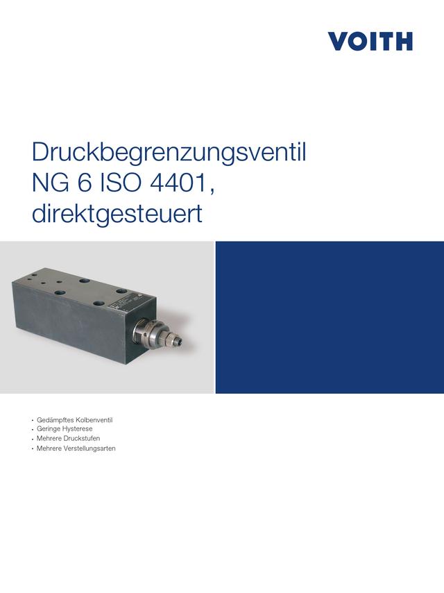 Druckbegrenzungsventil NG 6 ISO 4401, direktgesteuert