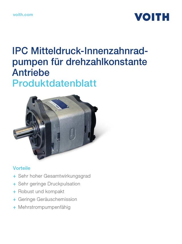 IPC Mitteldruckinnenzahnradpumpen