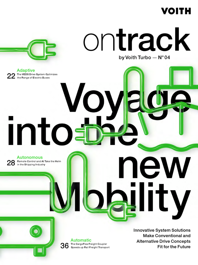 ontrack, customer magazine by Voith Turbo