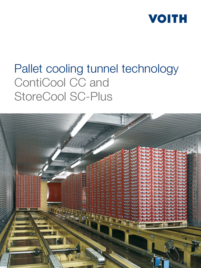 Pallet cooling tunnel technology - ContiCool CC and StoreCool SC-Plus