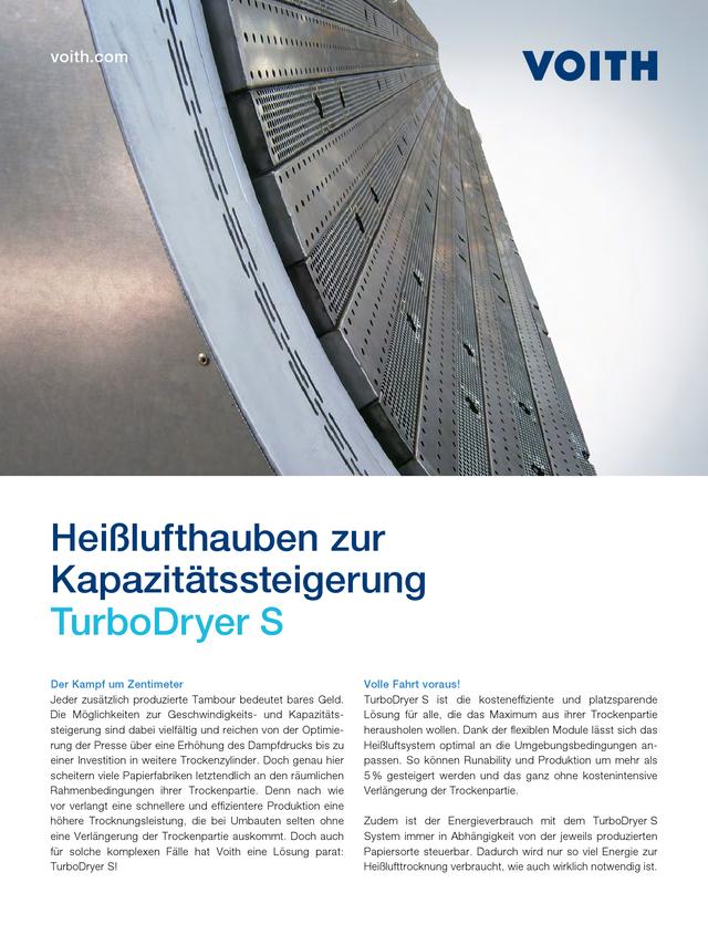 TurboDryer S - Heißlufthauben zur Kapazitätssteigerung