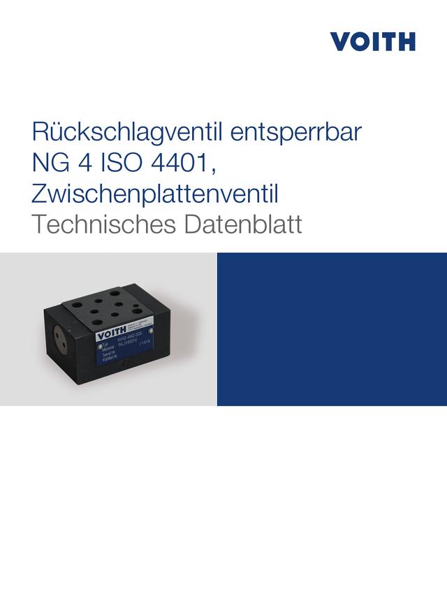 Rückschlagventil entsperrbar NG 4 ISO 4401, Zwischenplattenventil