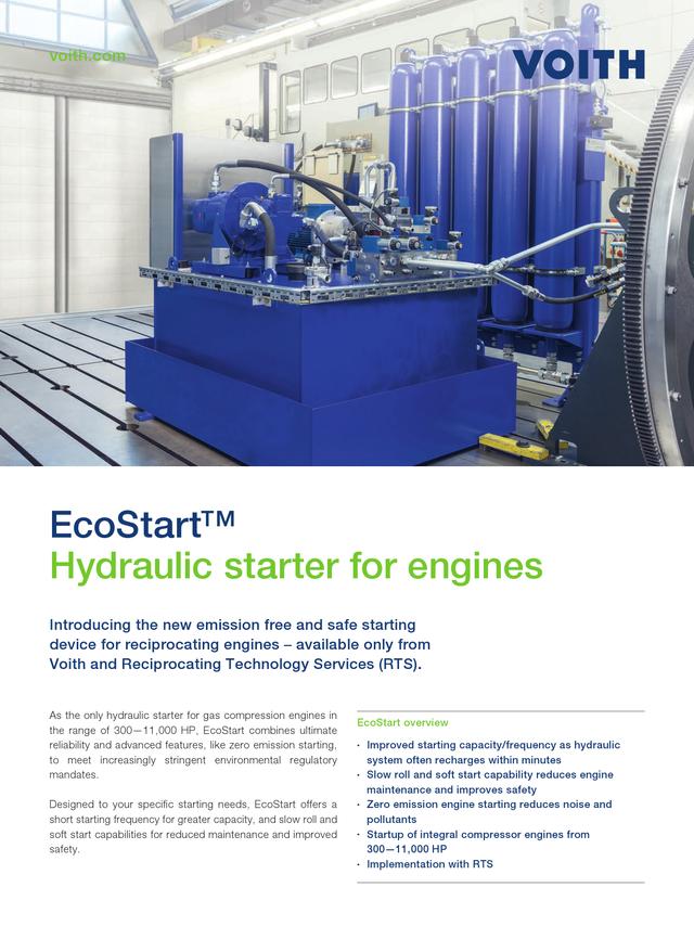 EcoStart™ Hydraulic starter for engines