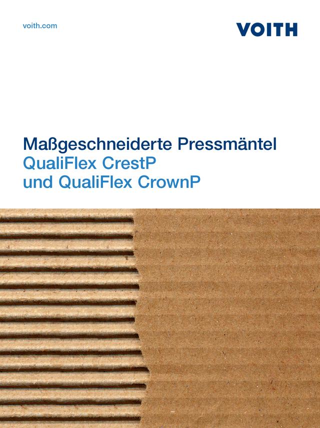QualiFlex CrestP und QualiFlex CrownP - Maßgeschneiderte Pressmäntel