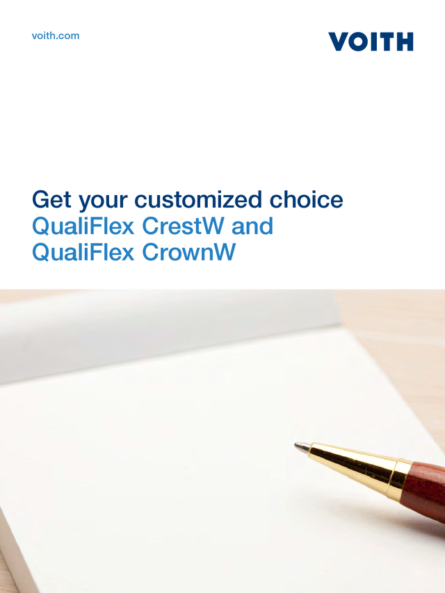 QualiFlex CrestW and QualiFlex CrownW - Get your customized choice