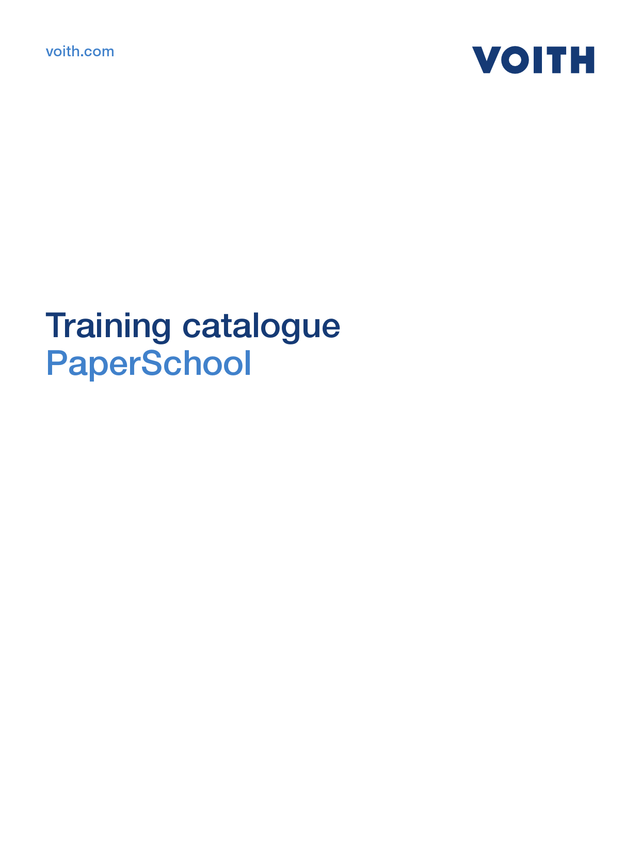 Training Catalog PaperSchool