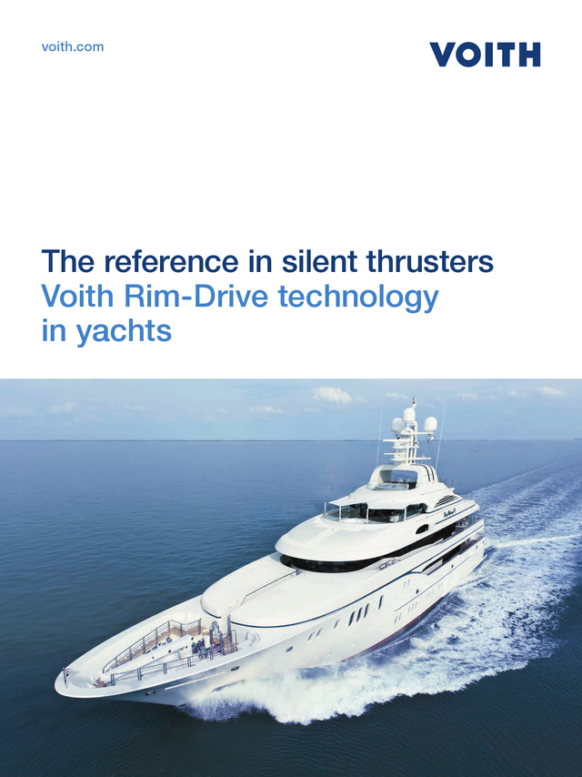 The reference in silent thrusters.  Voith Rim-Drive technology in yachts