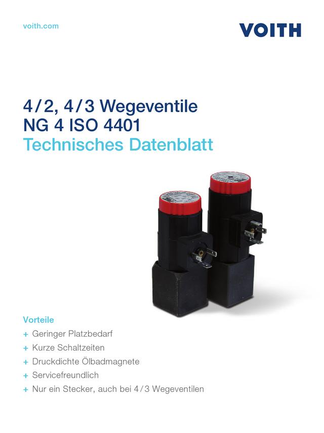 4/2, 4/3 Wegeventile NG 4 ISO 4401
