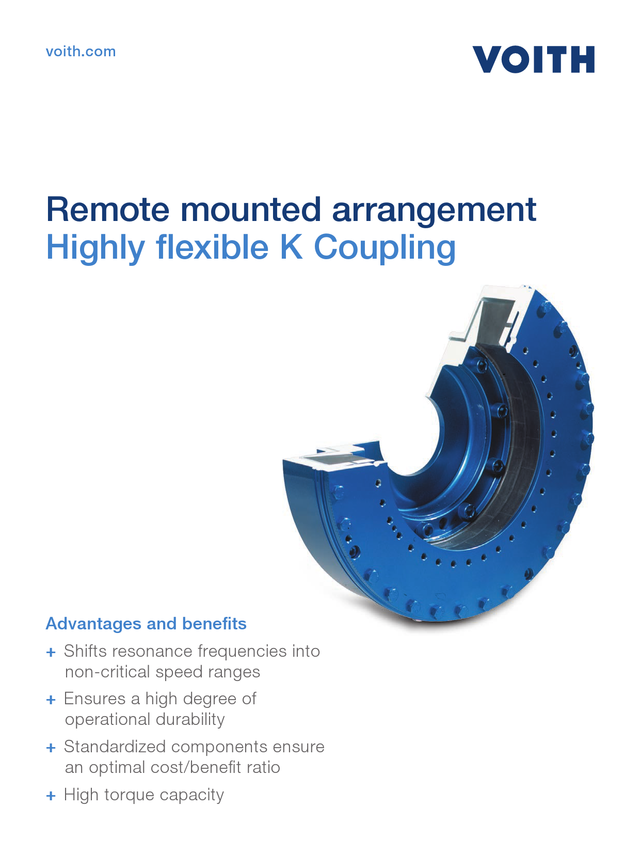 Highly flexible K Coupling - Remote mounted arrangement