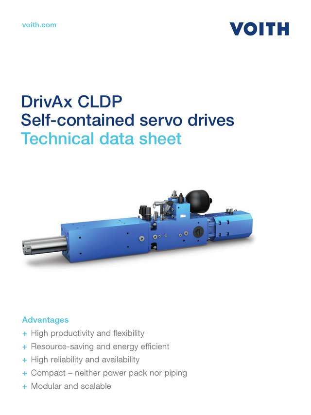 Self contained servo drive CLDP Technical data sheet