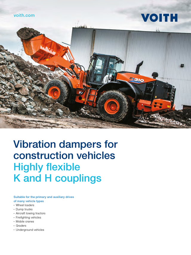 Vibration dampers for construction vehicles