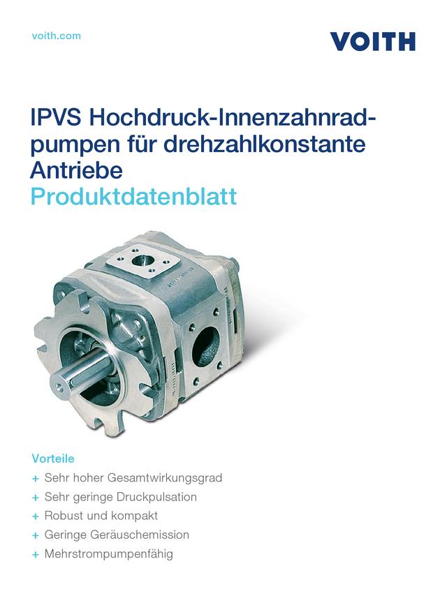 IPVS Hochdruck-Innenzahnradpumpen