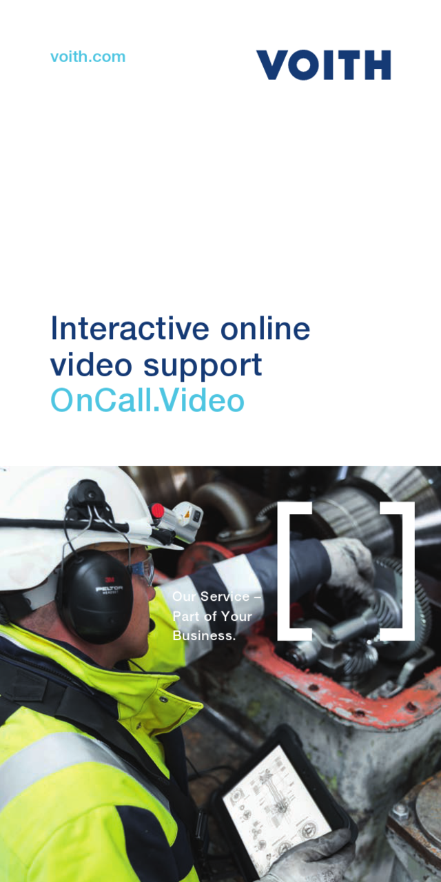 Get the Voith expert online at your site. VOCUS Video Collaboration