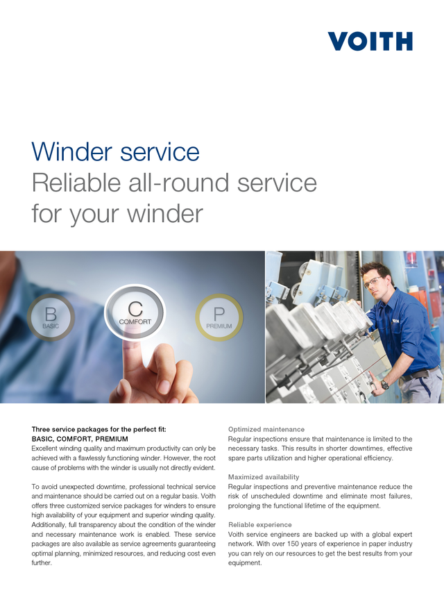Winder service - Reliable all-round service for your winder