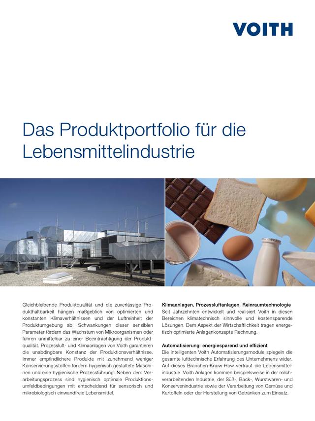 Das Produktportfolio für die Lebensmittelindustrie