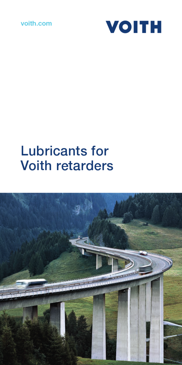 Voith Fluids for retarders