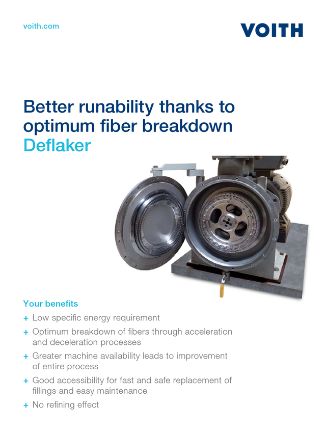 Better runability thanks to optimum fiber breakdown – Deflaker