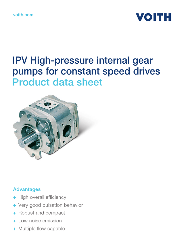 IPV High-pressure Internal Gear Pumps