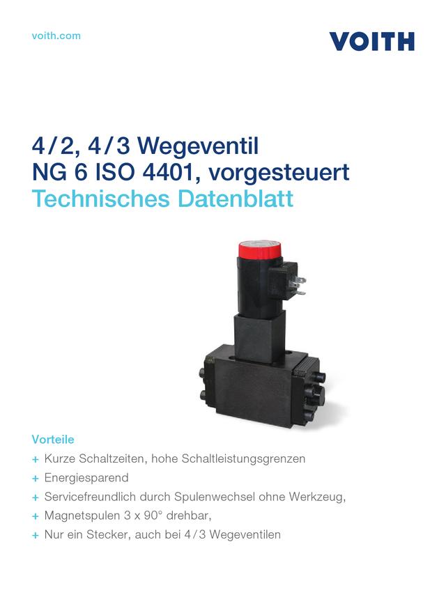 4/2, 4/3 Wegeventil NG 6 ISO 4401, vorgesteuert