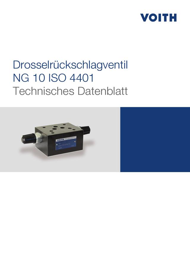 Drosselrückschlagventil NG 10 ISO 4401