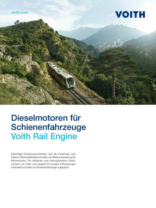 Dieselmotoren für Schienenfahrzeuge - Voith Rail Engine