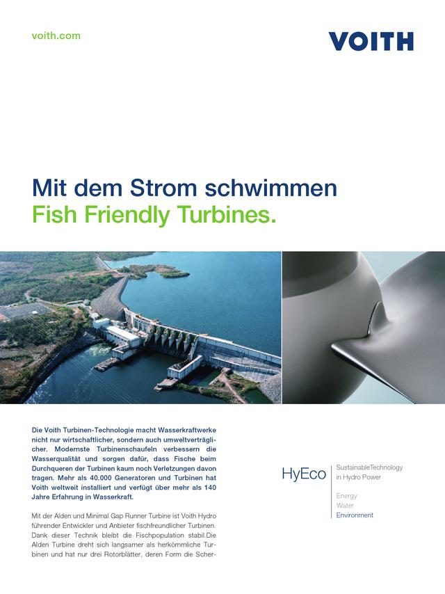Fish-Friendly Turbines. Mit dem Strom schwimmen