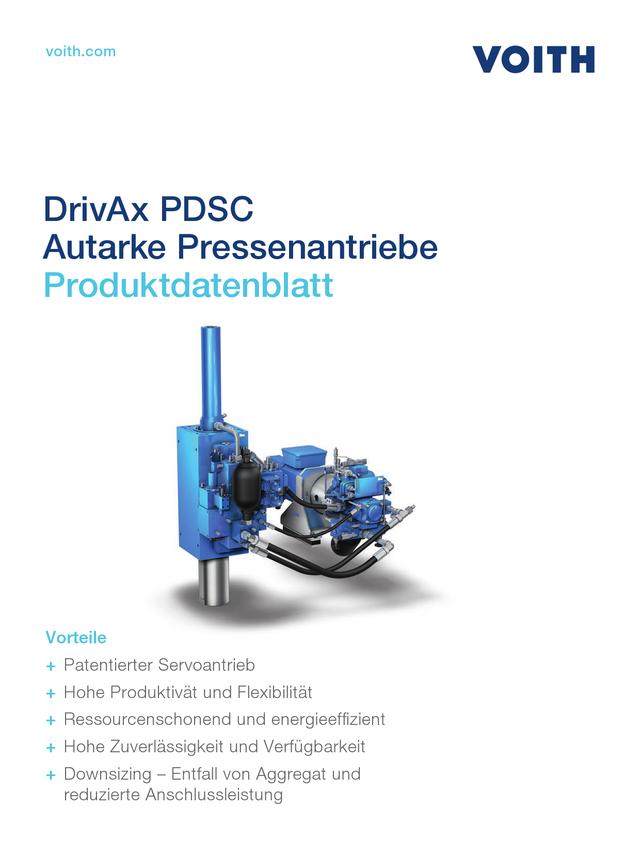 Autarker Presseantrieb PDSC Technisches Datenblatt