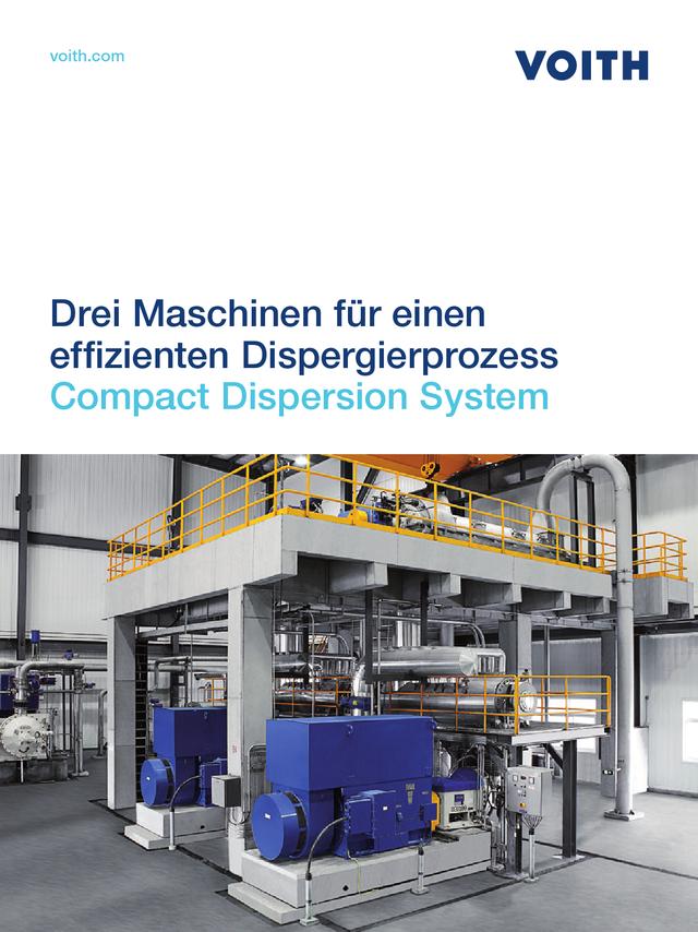 Compact Dispersion System – Drei Maschinen für einen effizienten Dispergierprozess