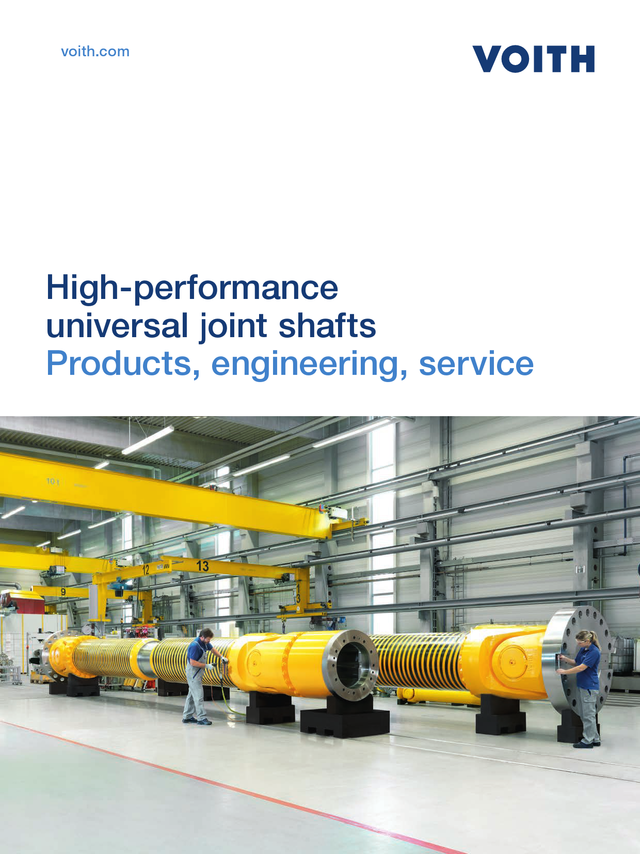 High-performance universal joint shafts