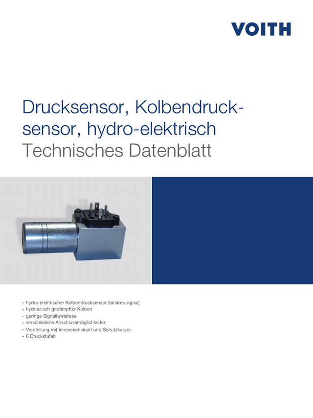 Drucksensor, Kolbendrucksensor, hydro-elektrisch