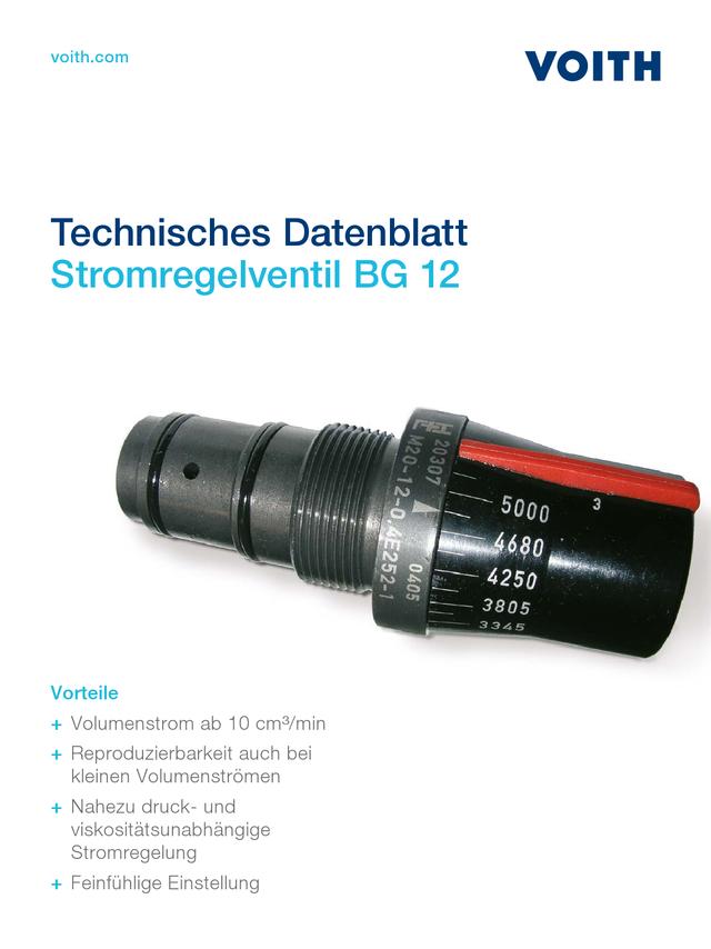 Stromregelventil BG 12