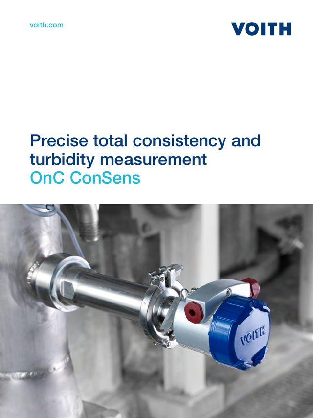 Precise total consistency and turbidity measurement -  OnC ConSens