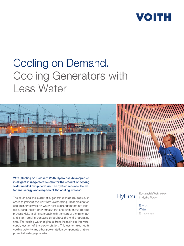 Cooling on demand. Cooling Generators with Less Water