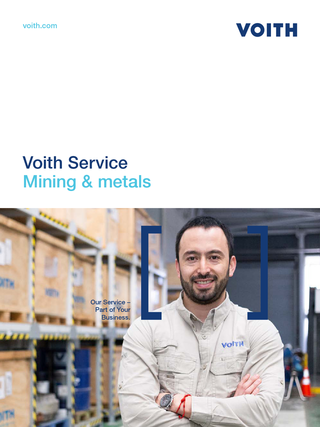 Voith Service − Mining & metals
